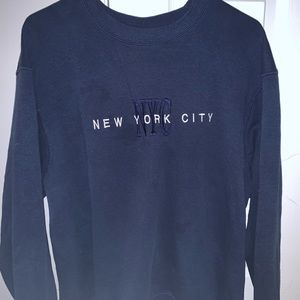 new york city navy crewneck